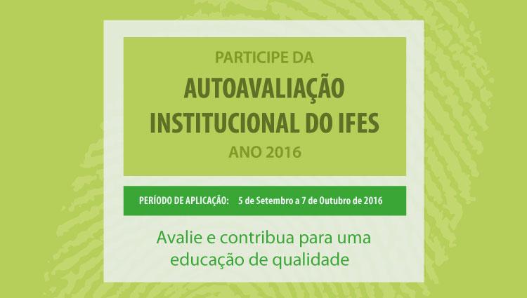 Disponível link para responder à Autoavaliação Institucional do Ifes