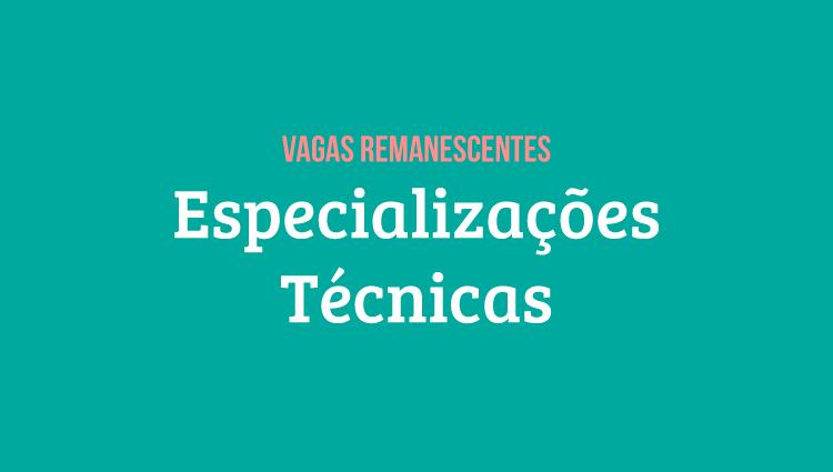 Campi Serra e Vila Velha divulgam editais de vagas remanescentes para especializações técnicas