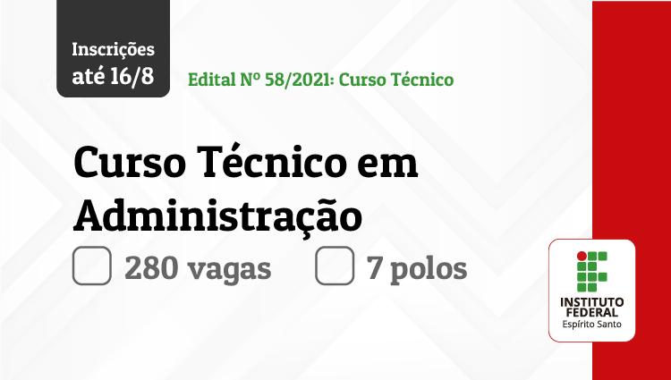 Ifes oferece 280 vagas em curso técnico em Administração